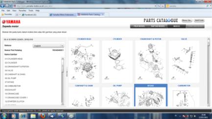 Yamaha selangkah lebih maju dalam spareparts dibandingkan for Yamaha electronic parts catalog