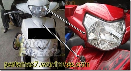 headlamp mio-J dan zr