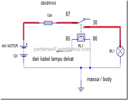 skema relay headlamp