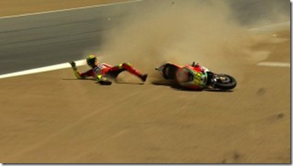 rossi crash
