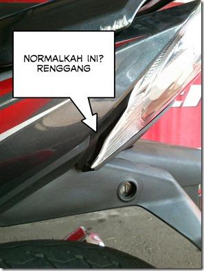 stoplamp honda new blade renggang