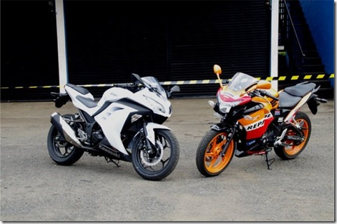 NEW NINJA 250 FI VS HONDA CBR 250