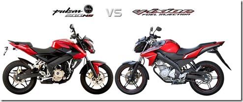 desain bajaj p200ns vs yamah new vixion 2013