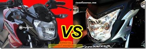 headlamp yamaha vixion 2013 vs honda cb150R street fire