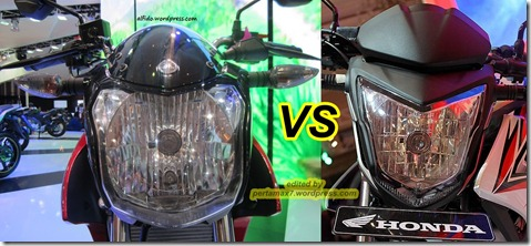 headlamp yamaha vixion lighning 2013 vs honda cb150R street fire