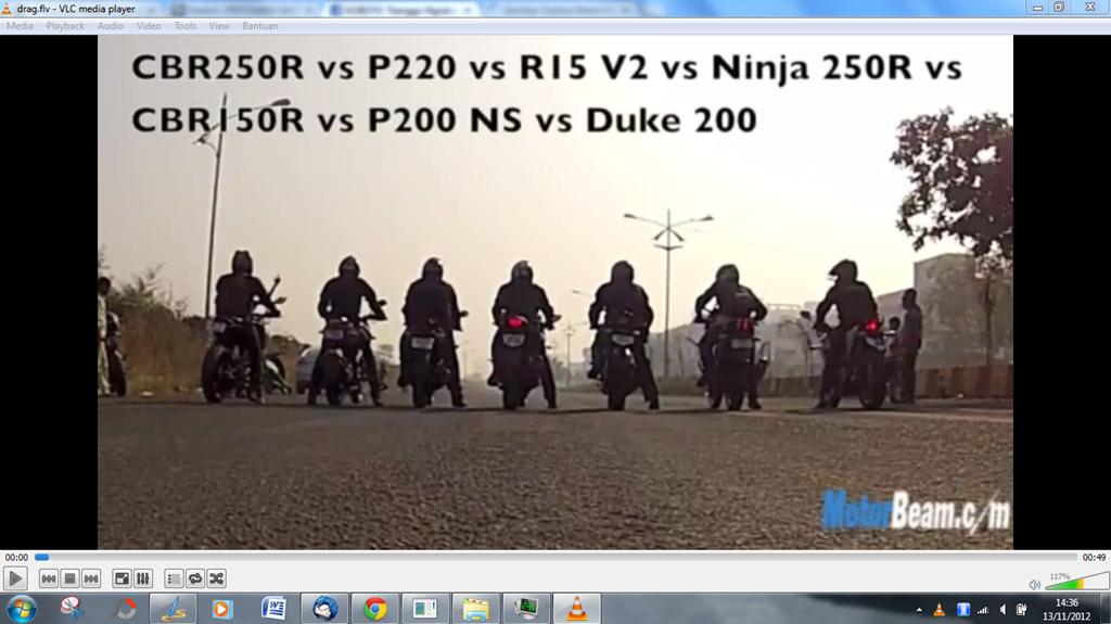 Adu Drag Honda Cbr150r Dohc Vs Yamaha R15 V 20 Sohc Menang