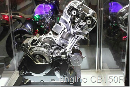 honda cb150 engine in slice