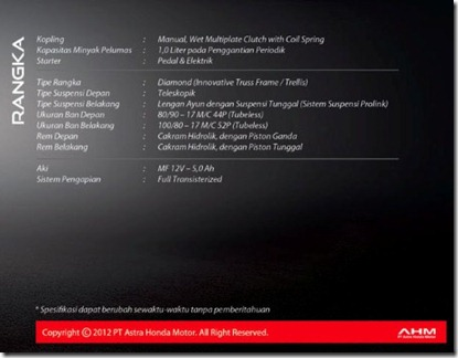 specifikasi honda CB150R (Small)