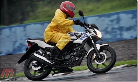 test ride honda CB150R