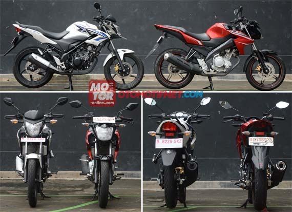 Yamaha New Vixion vs CB150R Honda