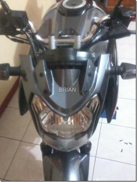 headlamp yamaha new vixion tanpa visor