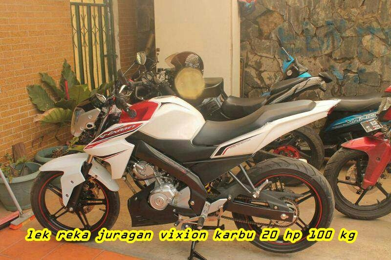 Modifikasi Yamaha New Vixion dengan lampu Byson title=