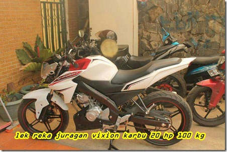 Modifikasi Lampu Depan Yamaha New Vixion 2013