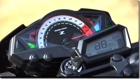 konsole speedometer kawasaki z250