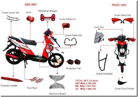 aksesoris yamaha x ride (Small)