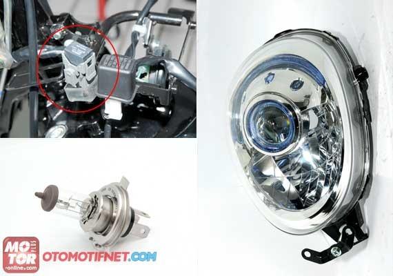 Headlamp Projector Honda Scoopy FI Dijual Rp 560 Rebuan