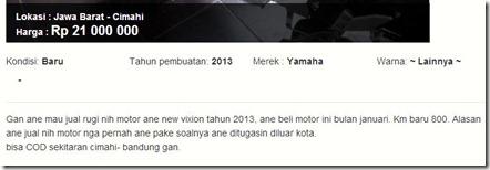 yamaha new vixion second hand