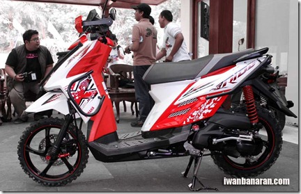 yamaha x ride advanture side