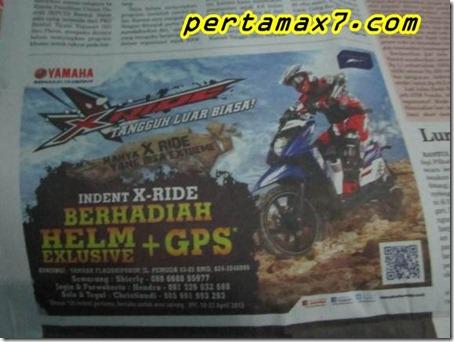 indent yamaha x-ride