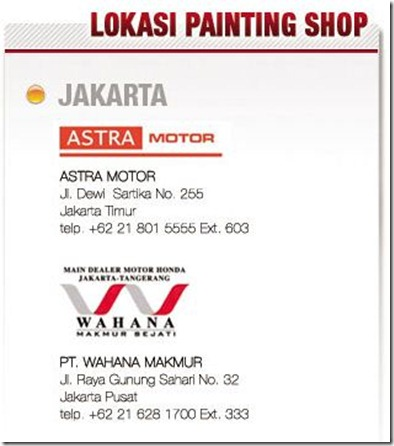 lokasi honda painting shop