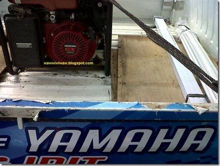 pick-up yamaha angkut genset honda (Small)