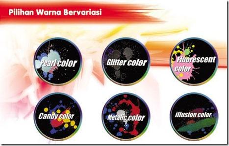 pilihan warna honda painting shop