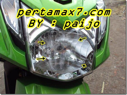 headlamp honda beat fi meleleh