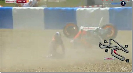 pedrosa crash qualifying jerez motogp 2013