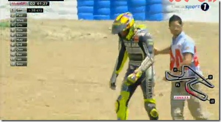 rossi crash qualifying jerez motogp 2013