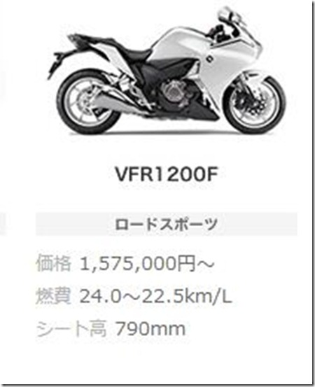 honda VRF1200