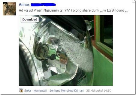 mika headlamp honda CB150R leleh hoax