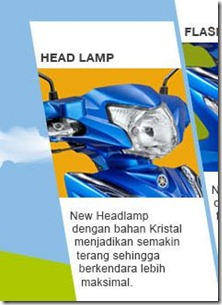 new feature on yamaha vega RR headlamp