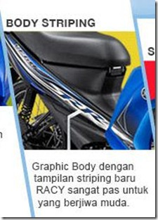 new feature on yamaha vega RR striping