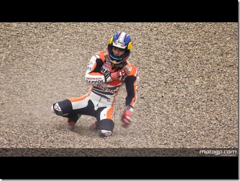 dani pedrosa 26 crash on sanshering