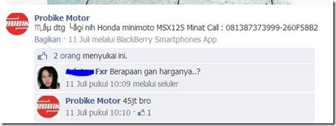 harga honda MSX 125 indonesia