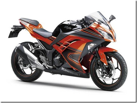 kawasaki ninja 250 fi SE candy burnt orange