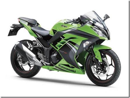 kawasaki ninja 250 fi SE lime green