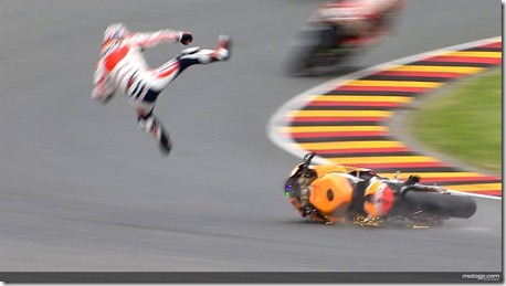 pedrosa crash in assen fly