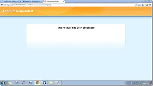 welovehonda.com suspeded