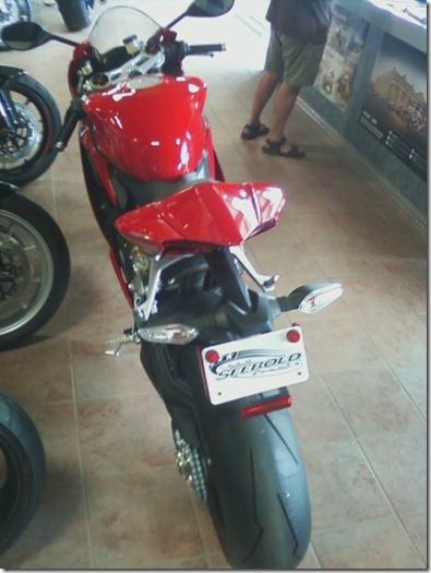ducati panigale back end