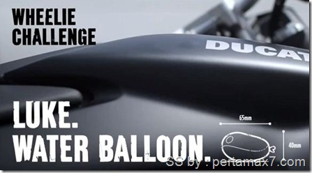 ducati wheelie challenge ballon kecil