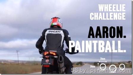 ducati wheelie challenge paintball