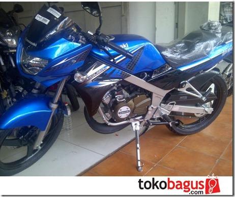kawasaki ninja 150 R blue dongker 6