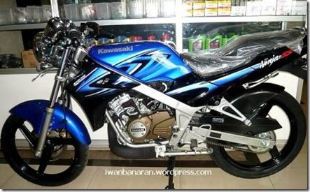 kawasaki ninja 150 R blue