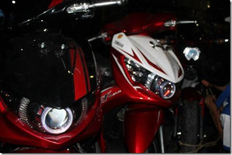matic yamaha headlamp projie