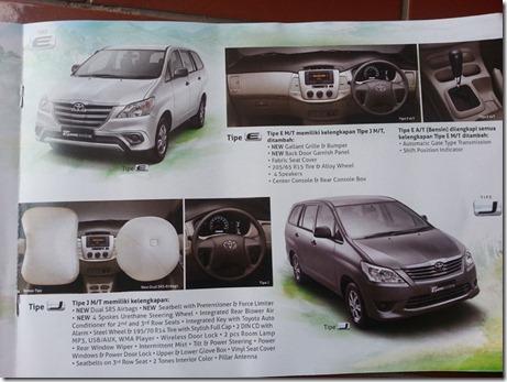 TOYOTA Kijang Innova 2014 Tipe J eksteriornya tidak di Facelift 19
