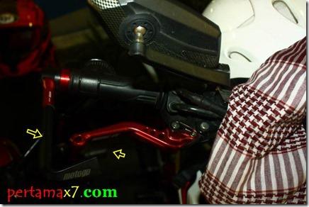 brake protector honda CB150R merah