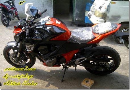 kawasaki z800 orange in indonesia