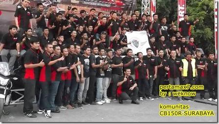komunitas honda CB150R surabaya 1