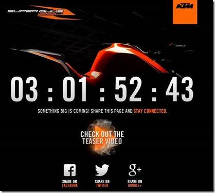 KTM 1290 superduke R teaser